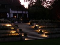 Garden Design Radlett - Steps by Night