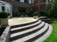 New Terrace and Steps - Recreational Garden - Chigwell
