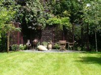 Paved Patio Area & Water Feature - Recreational Garden - Chigwell